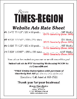 Web Advertising Rate Card
